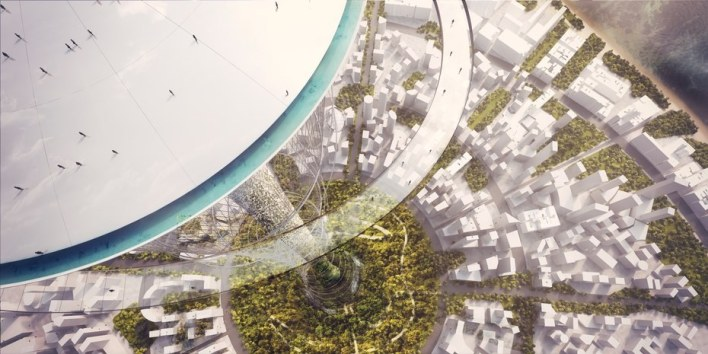 Carlo Ratti Proposes Mile-High Park, World's Tallest Structure © Carlo Ratti Associati